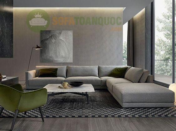 sofa góc bọc vải bố đẹp