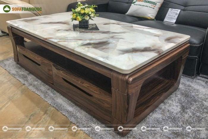 bàn trà sofa mặt đá đẹp marble