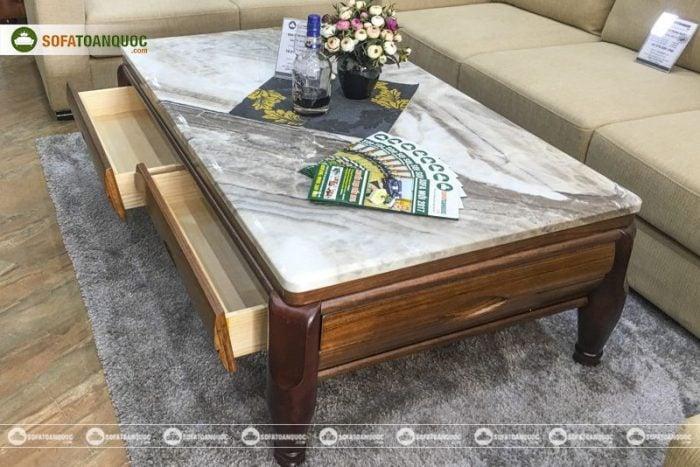 bàn trà sofa đá hoa cương gỗ tự nhiên