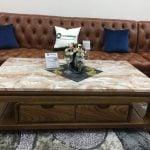 Top 10 mẫu bàn trà mặt đá Marble cao cấp cho phòng khách hiện đại