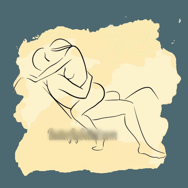 ghế tình yêu tư thế nghỉ ngơi