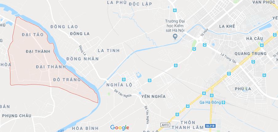 Khu vực Đại Thành Quốc Oai Hà Nội cách bến xe Yên Nghĩa khoảng 7km