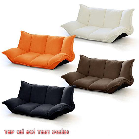 ghế sofa dạng bệt bọc vải