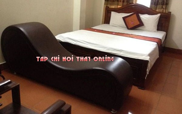 Ghế tình yêu bọc da cao cấp dùng trong khách sạn.