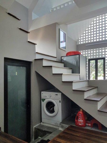 khu bố trí máy giặt của căn nhà.