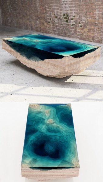 bàn trà đại dương độc lạ