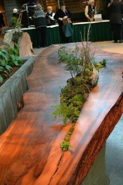bàn trà gốc cây nguyên khối đẹp tinh tế