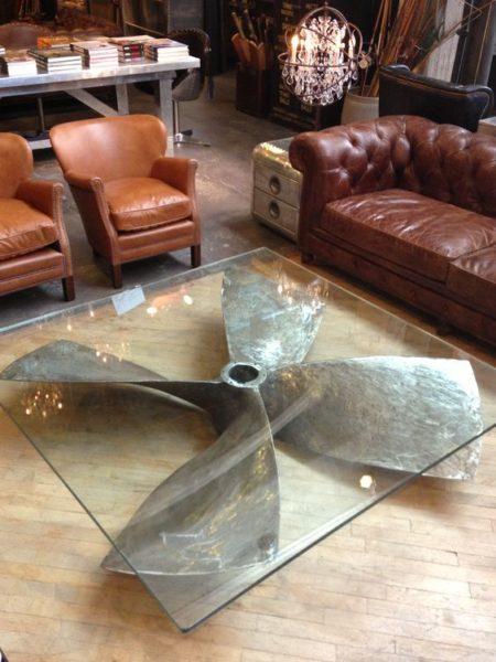 bàn trà sofa mặt kính sang trọng