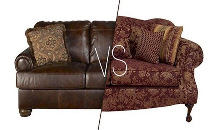 Sofa da hay sofa vải là điều băn khoăn lớn đối với nhiều khách hàng hiện nay