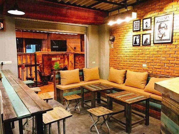 thiết kế nội thất quán cafe take away ấn tượng