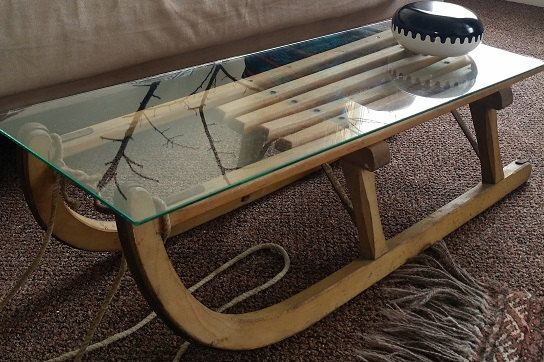 bàn trà xe kéo mặt kính đẹp