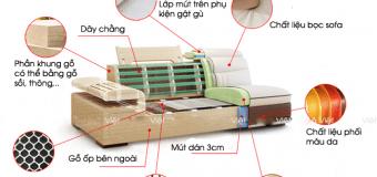 Mổ xẻ chi tiết cấu tạo ghế sofa phòng khách rõ ràng nhất