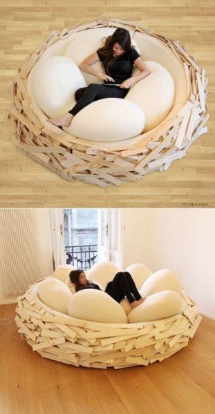 ghế sofa hình tròn hình ổ trứng