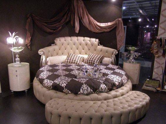 sofa giường hình tròn tân cổ điển