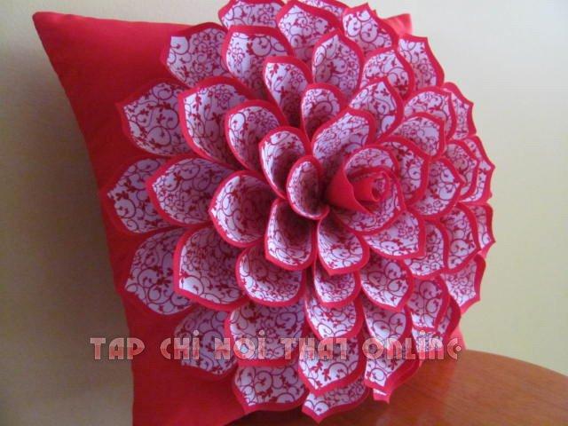 gối ôm sofa bông hoa dạng to bản.
