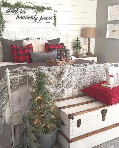 trang trí phòng ngủ dịp Giáng Sinh