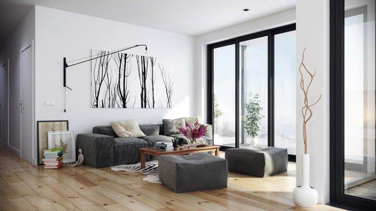 bộ ghế sofa bọc vải cho mùa đông