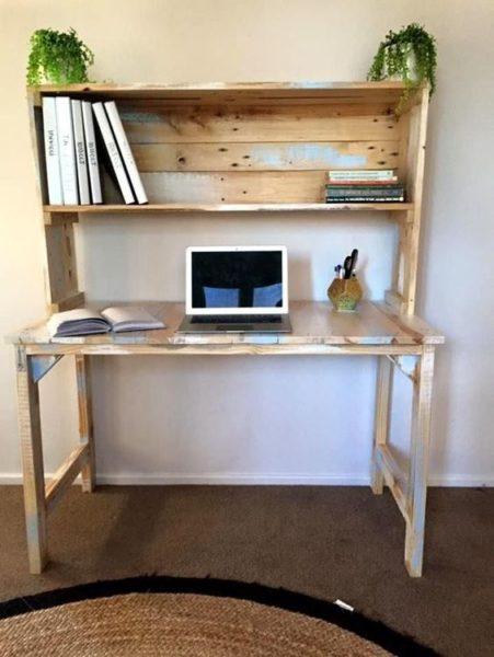 giá sách kiêm bàn học, bàn làm việc bằng gỗ