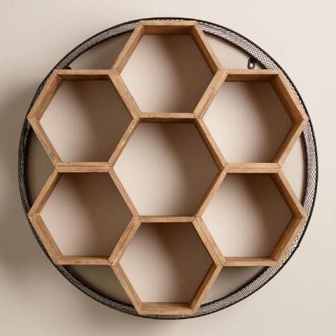 kệ sách nhỏ dạng tổ ong treo tường