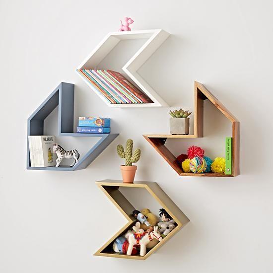 kệ sách treo tường mini dạng mũi tên