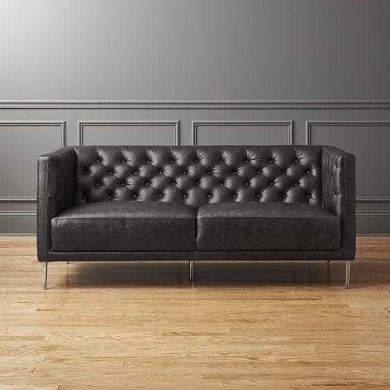 ghế sofa 2 chỗ bọc da cổ điển