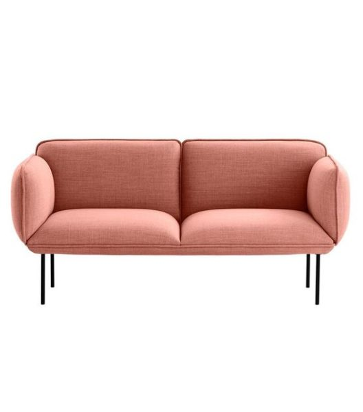 ghế sofa màu hồng 2 chỗ