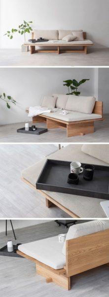 ghế sofa gỗ đệm đôi 2 chỗ