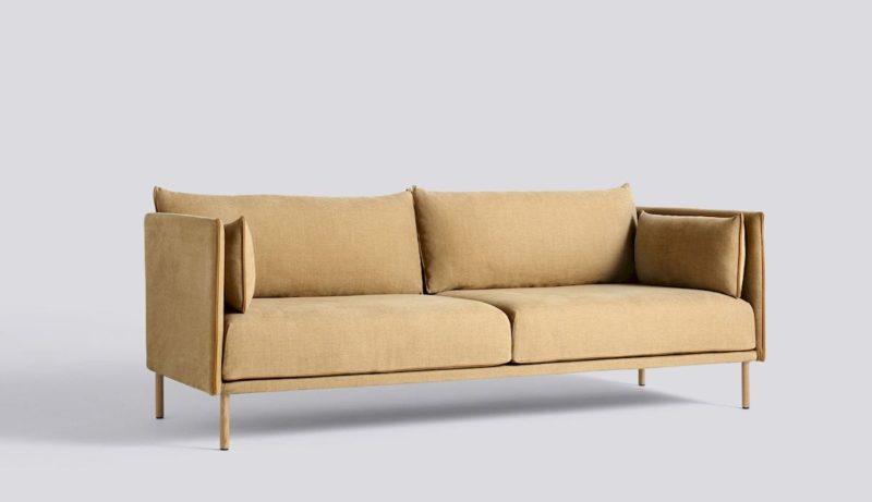 ghế sofa gỗ sồi dạng văng 2 chỗ