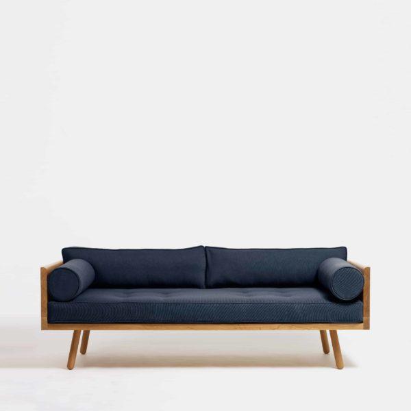 ghế soFa văng gỗ sồi màu xanh ngọc thậm