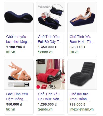 ghế tình yêu giá bao nhiêu từ quảng cáo Google