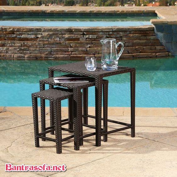 bàn ghế uống nước ngoài trời