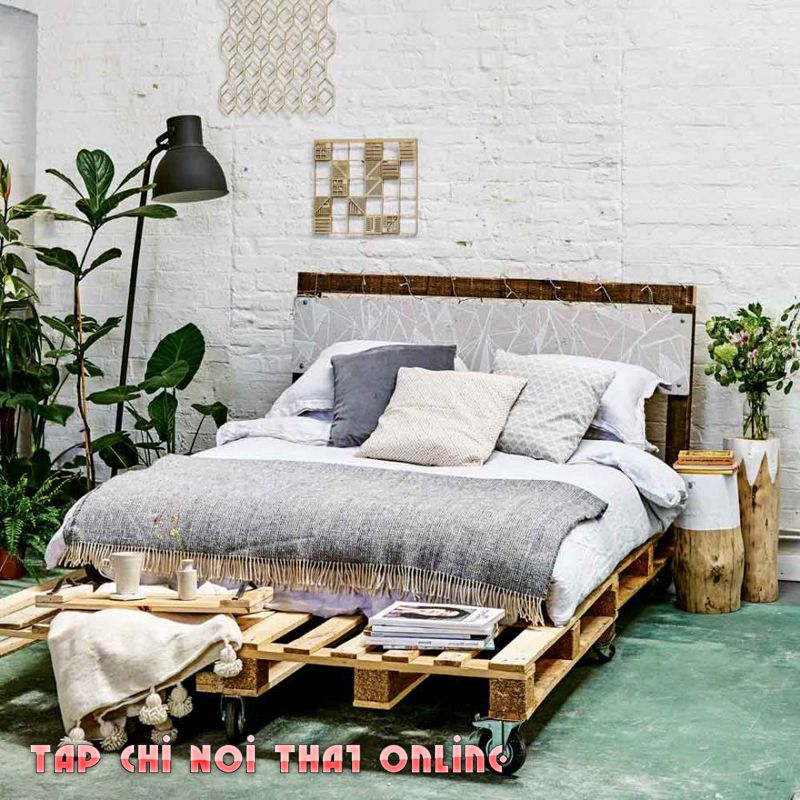 cách làm giường ngủ bằng gỗ pallet