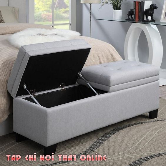 ghế cuối giường kiêm hòm đồ