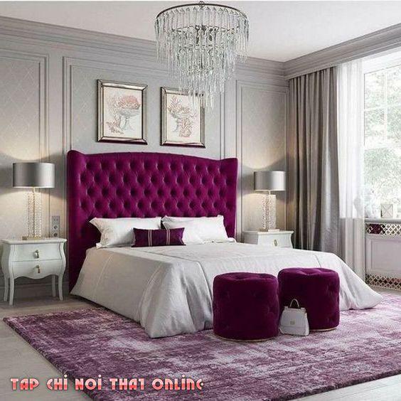 đôn sofa tròn trong phòng ngủ