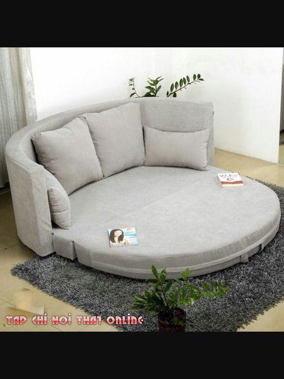 ghế sofa cho phòng ngủ dạng bệt hình tròn