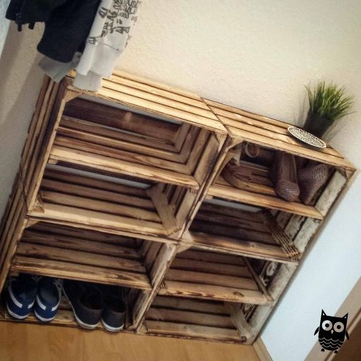 kệ gỗ pallet để giày dép