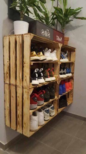 kệ để giày bằng pallet gỗ cao cấp