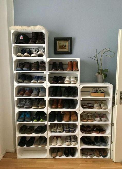 kệ để giày dép bằng gỗ pallet