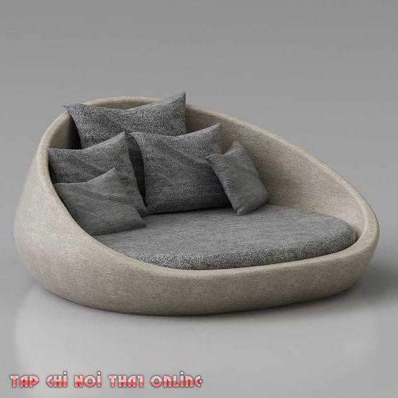 sofa bệt dạng giường tròn