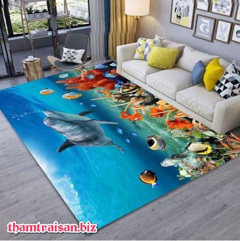 thảm trải sàn chủ đề biển xanh