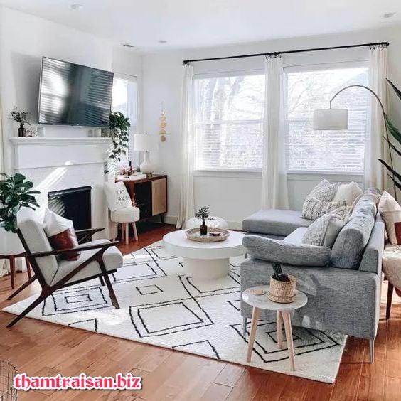 thảm trải sofa mùa hè