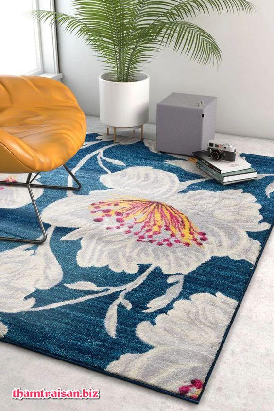 thảm trải sofa hoa mẫu đơn cho mùa hè