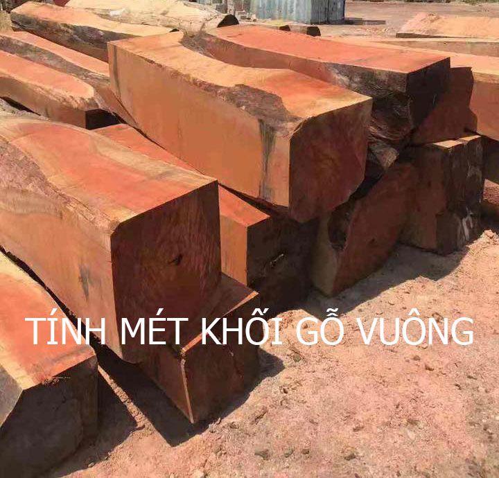 Công thức tính mét khối gỗ vuông.