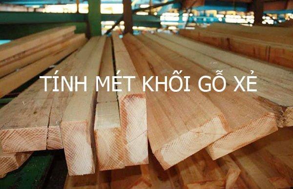 Công thức tính thể tích mét khối gỗ xẻ.