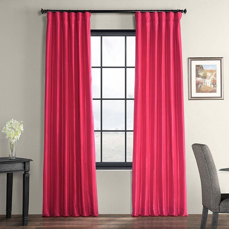 rèm cửa màu hồng đỏ