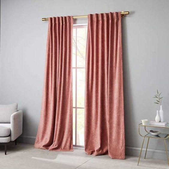rèm vải cửa sổ bằng vải nhung