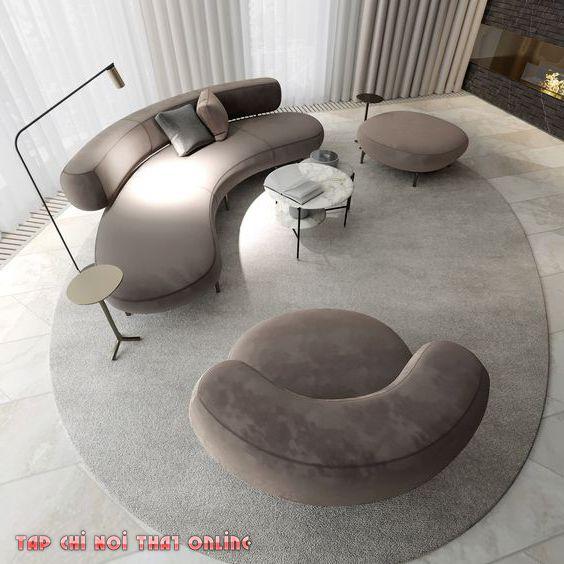bộ sofa cong 3 món