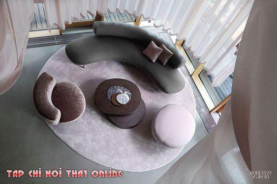 bộ ghế sofa cong phòng khách