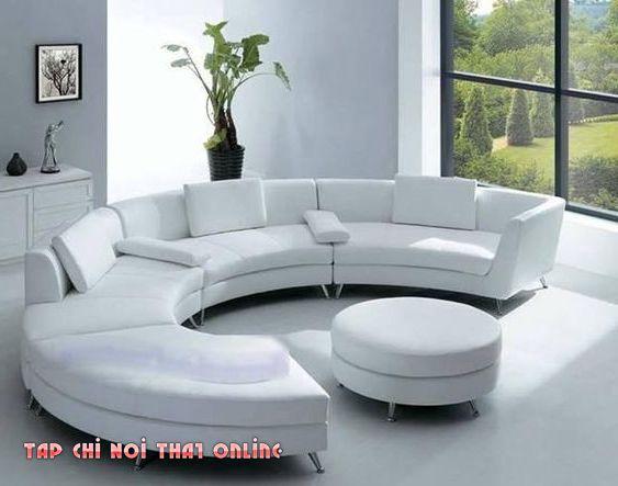 ghế sofa cong chữ C đẹp mắt