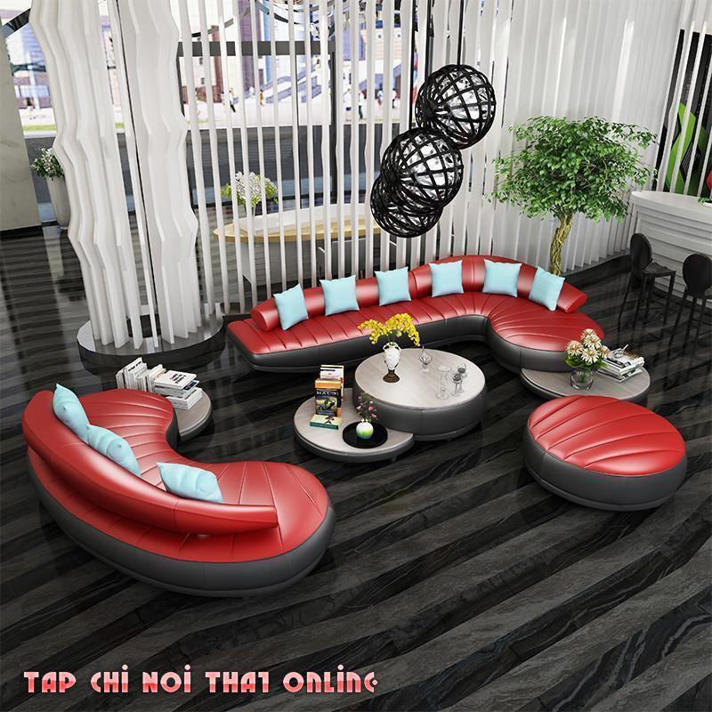 bộ ghế sofa cong 2 món